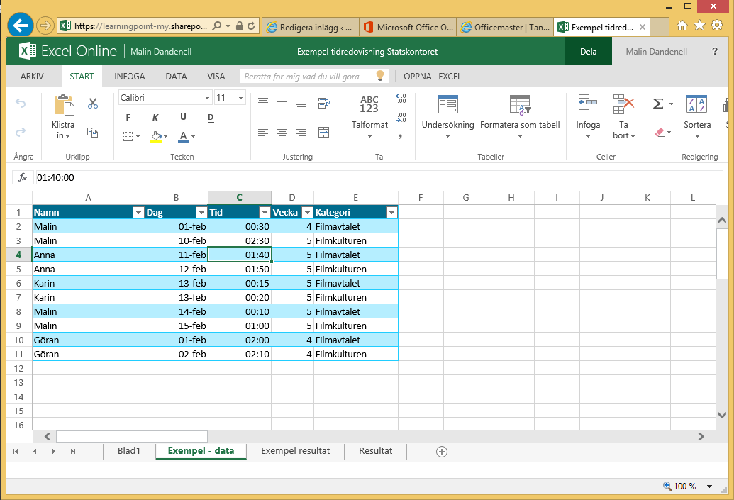 pivottabell excel office 365